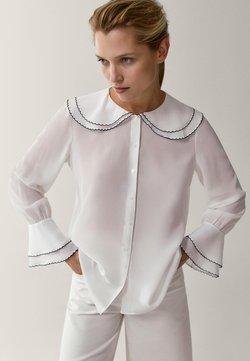 Massimo Dutti - MIT DETAIL AM KRAGEN - Camicia - white