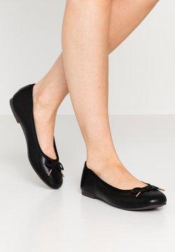 Tamaris - Klassischer  Ballerina - black matt