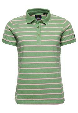 Superdry - Poloshirt - varsity soft green stripe