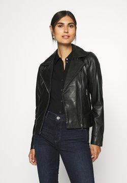 Oakwood - MARJORY - Veste en cuir - black