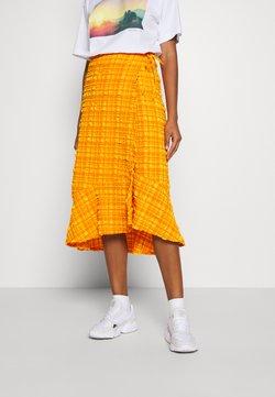 Monki - LANE SKIRT - Jupe portefeuille - orange