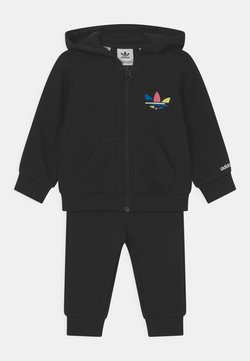 adidas Originals - HOODIE SET UNISEX - Sudadera con cremallera - black
