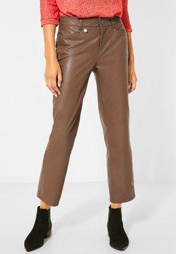 Street One - Pantalon en cuir - braun