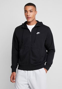 Nike Sportswear - CLUB HOODIE - Sweatjacke - black/white