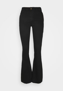 Pieces - PCKAMELIA FLARED - Flared Jeans - black