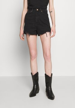 New Look - HIGHRISE MOM  - Jeansshort - black