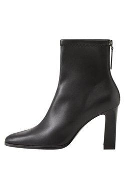 Mango - PUNTO - High heeled ankle boots - black
