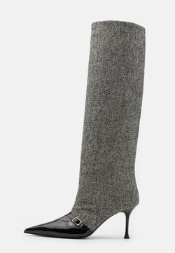 MSGM - STIVALE DONNA WOMAN`S BOOT - Stiefel - black/white