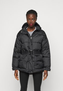 Missguided Tall - SELF BELTED PUFFER - Winter jacket - black