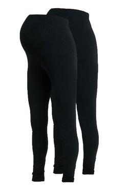 MAMALICIOUS - MLLEA LONG 2 PACK - Leggings - black