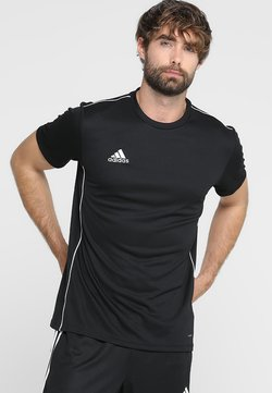 adidas Performance - AEROREADY PRIMEGREEN JERSEY SHORT SLEEVE - Printtipaita - black/white