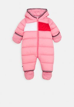 Tommy Hilfiger - BABY FLAG SKISUIT - Skipak - pink