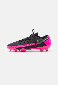 Nike Performance - PHANTOM GT PRO FG - Chaussures de foot à crampons - black/metallic silver/pink blast