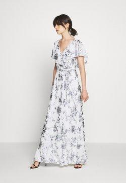 Lauren Ralph Lauren - FOIL LONG GOWN - Ballkleid - white/silver-coloured
