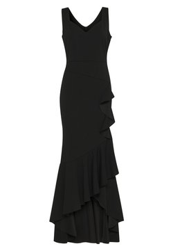 WAL G. - FRILL HEM MAXI DRESS - Abito da sera - black