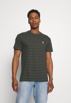 REVOLUTION - STRIPED - T-Shirt print - army melange