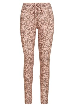 American Eagle - LEOPARD PLUSH - Jogginghose - blush