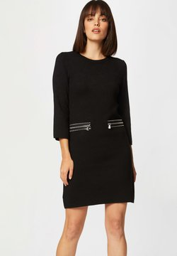 Morgan - STRAIGHT  WITH ZIPPED DETAILS - Vestido de punto - black
