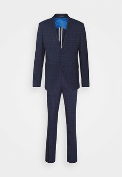 Selected Homme - SLHSLIM KYLELOGAN SET - Anzug - navy blue/light blue