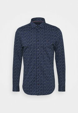 Tommy Hilfiger Tailored - FLORAL KNIT SLIM - Businesshemd - navy iris/classic blue/white