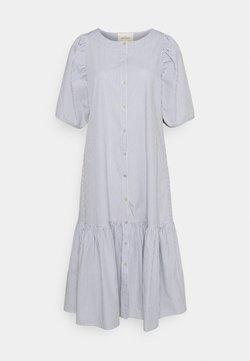 esmé studios - VIVIAN SS MIDI OVERSIZE DRESS - Blusenkleid - blue/white