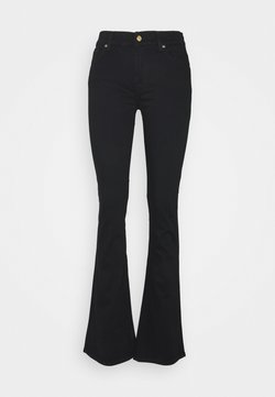 7 for all mankind - LUXURIOUS RINSE - Bootcut jeans - black