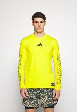 adidas Performance - HYPE TEE - Funktionsshirt - yellow