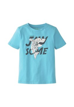 TOM TAILOR - T-SHIRT T-SHIRT MIT PAILLETTEN - T-Shirt print - bluefish