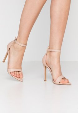 Lost Ink Wide Fit - POINTED BARELY THERE  - Korolliset sandaalit - nude