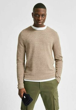 Selected Homme - SLHROCKY CREW NECK - Maglione - brown