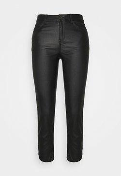 VILA PETITE - VICOMMIT COATED PANT - Spodnie materiałowe - black