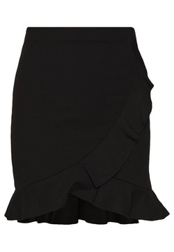 Nly by Nelly - FRILL MINI SKIRT - Jupe portefeuille - black