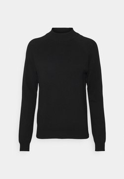 Pieces Petite - PCESERA HIGH NECK - Jersey de punto - black