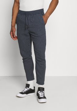 Only & Sons - ONSLINUS LIFE CROP TAP PANT - Stoffhose - dress blues