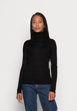 Selected Femme - SLFCOSTINA ROLLNECK - Strickpullover - black