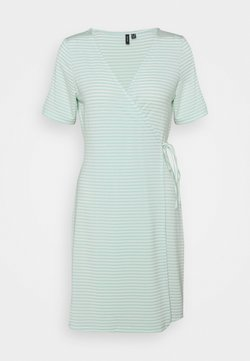 Vero Moda Petite - VMKATE SHORT DRESS - Jersey dress - icy morn/white