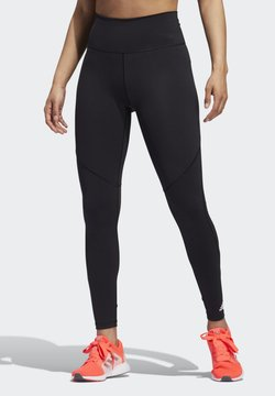 adidas Performance - BELIEVE THIS  -STRIPES MESH LONG LEGGINGS - Medias - black