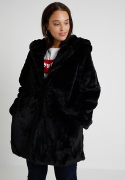 Urban Classics Curvy - LADIES HOODED COAT - Veste d'hiver - black