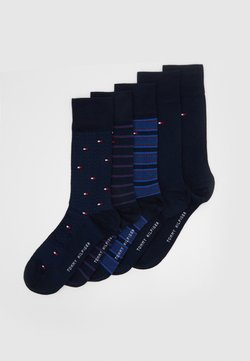 Tommy Hilfiger - SOCK FINE STRIPE GIFTBOX 5 PACK - Socken - dark navy