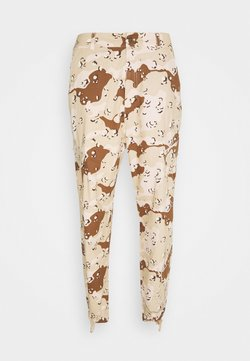 Karl Kani - SIGNATURE WASHED CARGO PANTS - Reisitaskuhousut - sand
