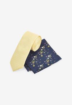 Next - SET - Einstecktuch - navy blue/yellow