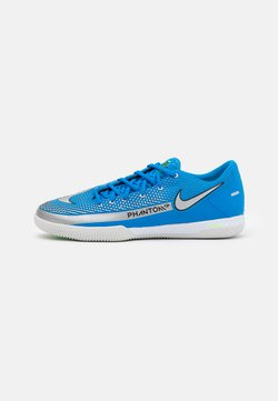 Nike Performance - REACT PHANTOM GT PRO IC - Indoor football boots - photo blue/metallic silver/rage green