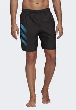 adidas Performance - BOLD 3-STRIPES CLX SWIM SHORTS - Szorty kąpielowe - black