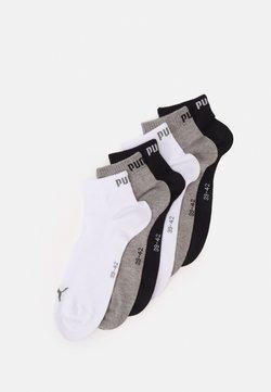 Puma - QUARTER PLAIN 6 PACK UNISEX - Urheilusukat - grey/white/black