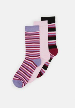 Wild Feet - BAMBOO STRIPES SOCKS 3 PACK - Socken - multi-coloured
