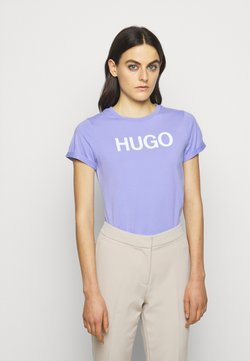 HUGO - THE SLIM TEE - Camiseta estampada - pastel purple