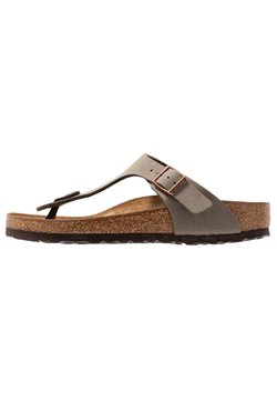Birkenstock - GIZEH NARROW FIT - Chaussons - stone