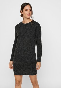 Vero Moda - VMDOFFY O-NECK DRESS - Vestido de punto - black