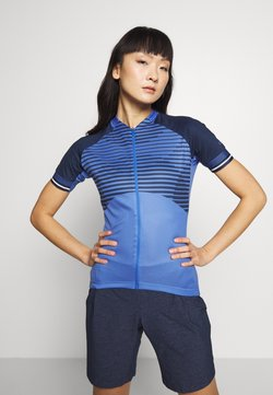 ODLO - STAND UP COLLAR FULL ZIP ZEROWEIGHT - T-Shirt print - amparo blue /diving navy