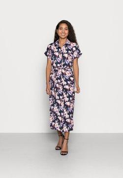 Vero Moda Petite - VMINES WIDE CALF SHIRTDRESS - Vestido camisero - navy
